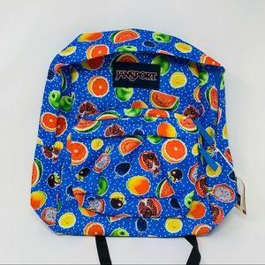 New Jansport SUPERBREAK The Fruit Is Fun Backpack
